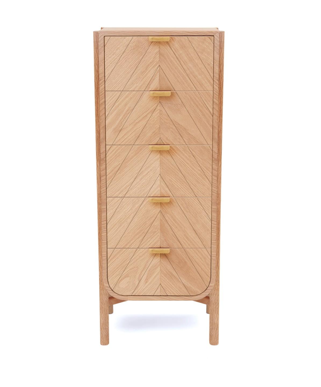 Chiffonnier 'Marius' chêne naturel 5 tiroirs * Hartô Design