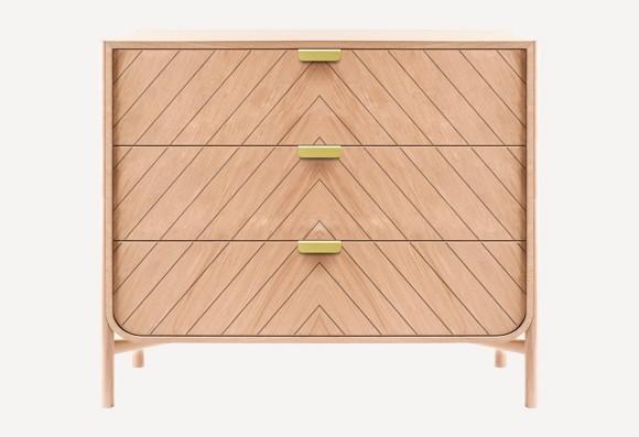 Commode 'Marius' 3 tiroirs -  plusieurs couleurs * Hartô Design