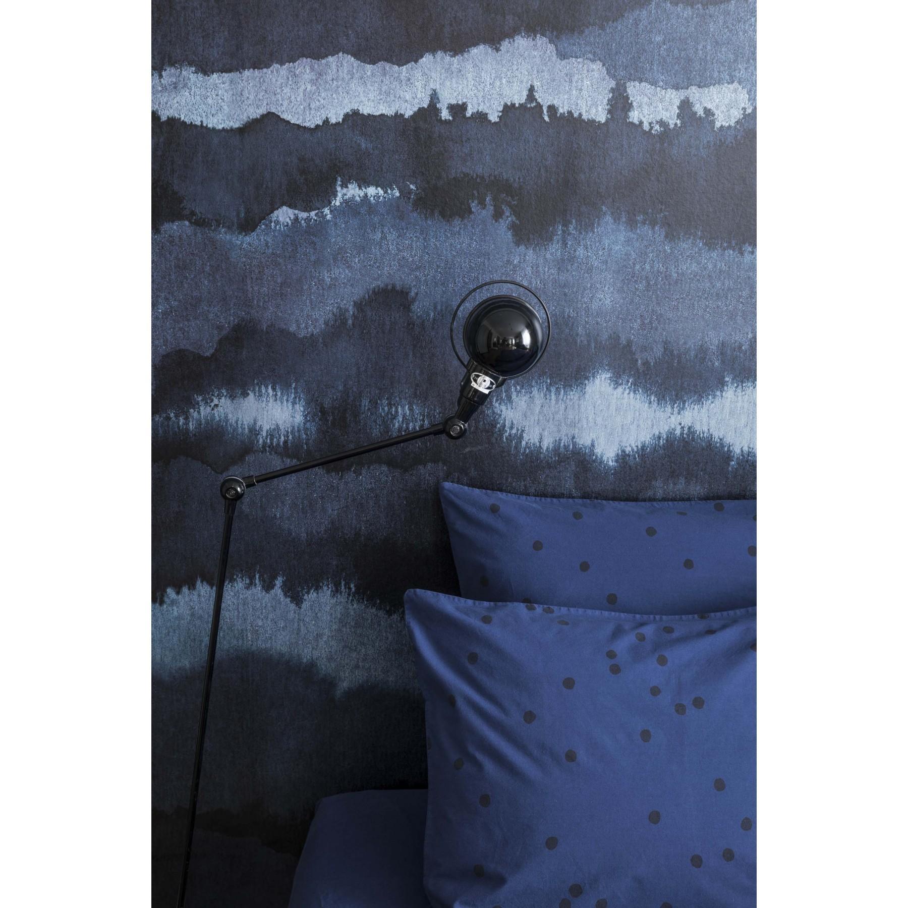 Taie d'oreiller Pois Odette bleu Encre bleu 65x65cm Coton bio * La Cerise sur le Gâteau