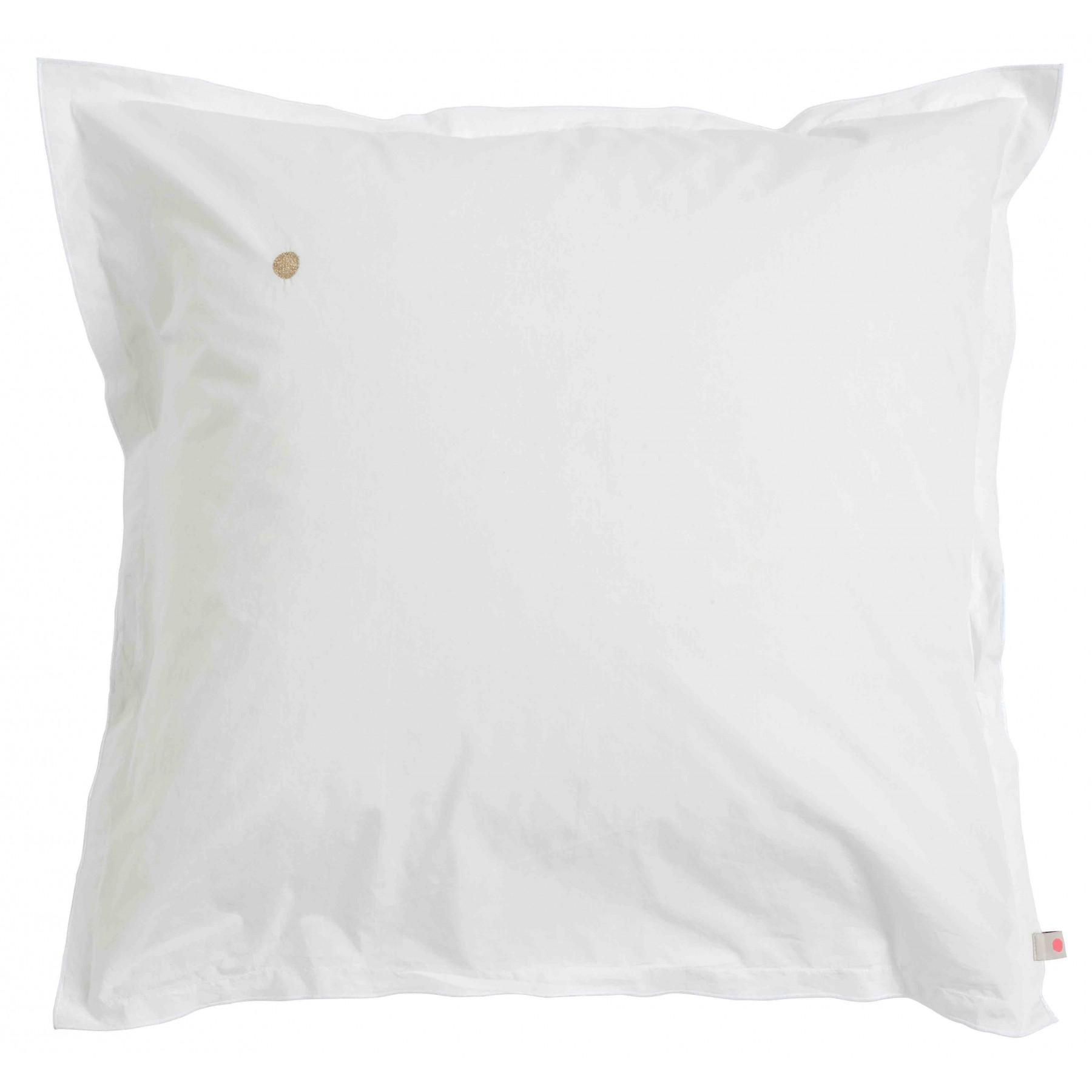 Taie d'oreiller Swann Blanc Milk bords Bords Blancs 65x65cm * La Cerise sur le Gâteau