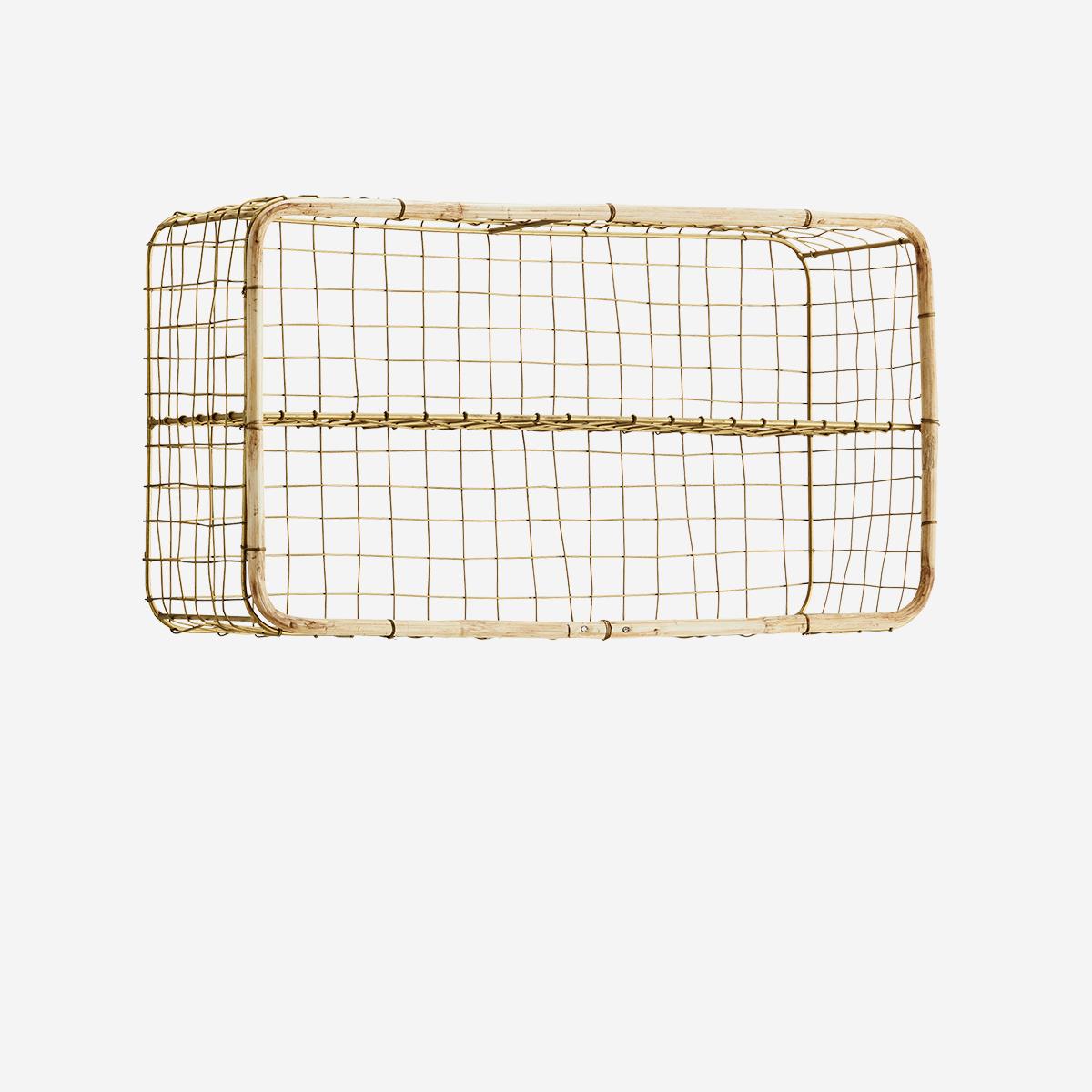 Etagère rectangulaire fer doré & bambou * Madam Stoltz