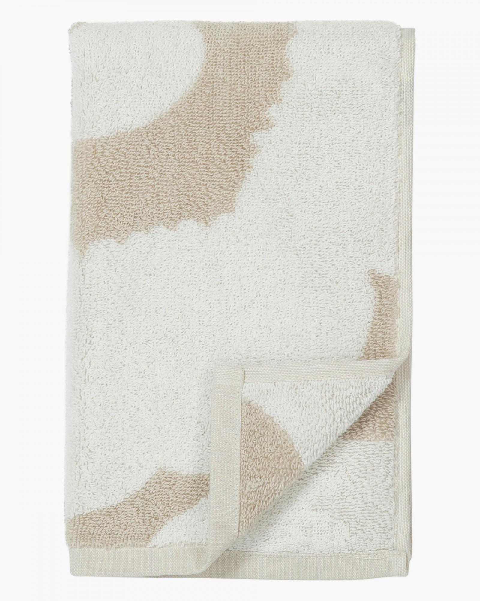 Serviette invité 30x50 cm Unikko beige * Marimekko