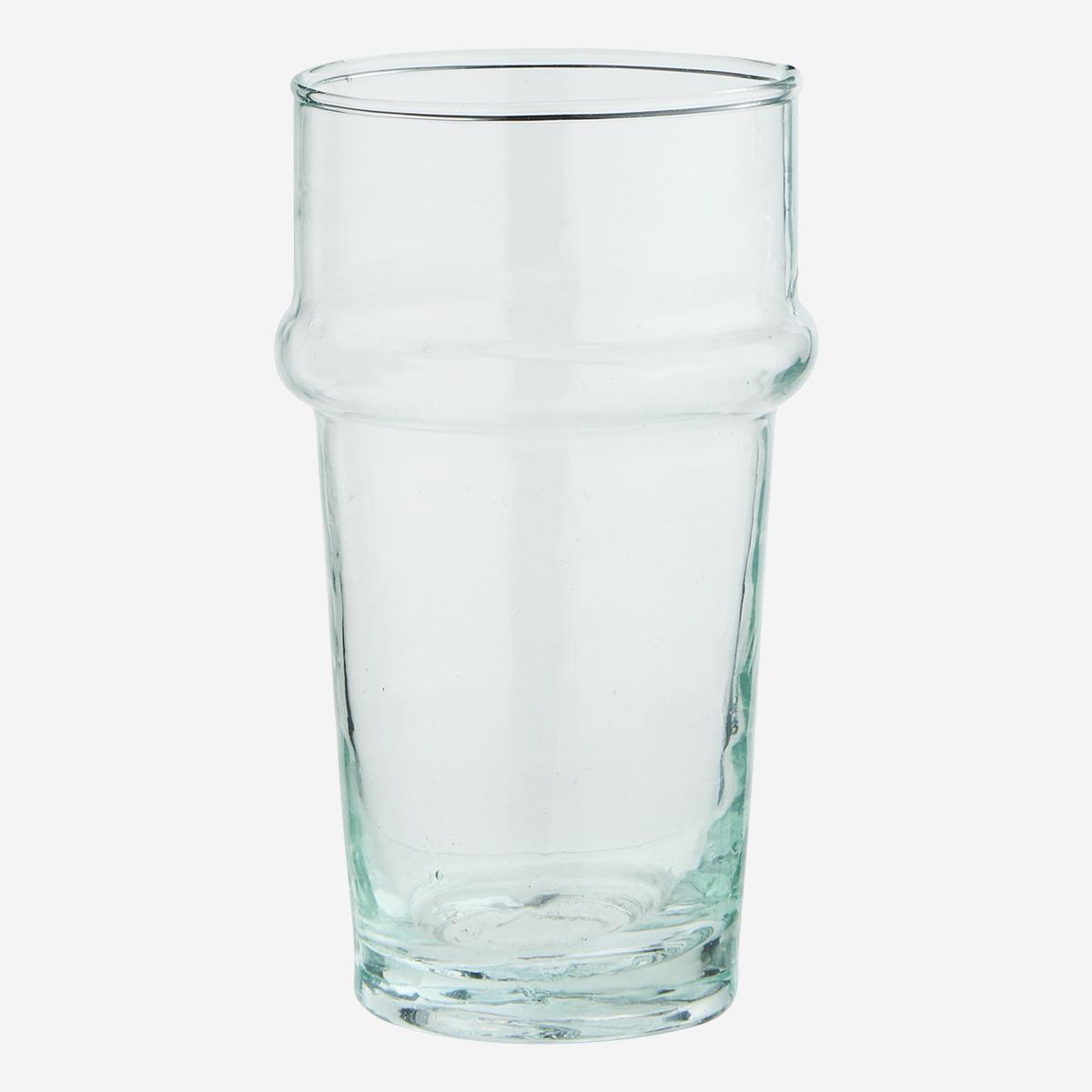 Verre Beldi haut transparent (verre recyclé) * Madam Stoltz
