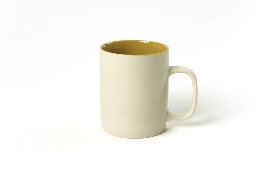 Mug greige mat intérieur moutarde 350ml * Kinta