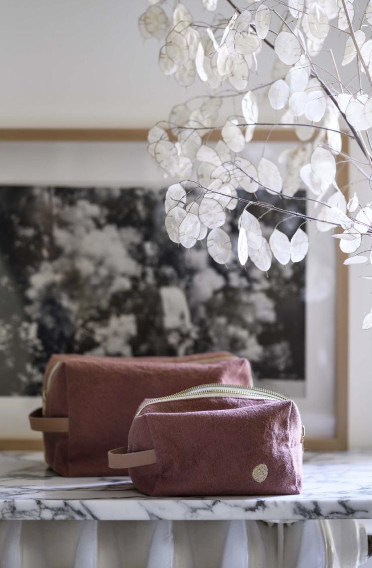 Trousse cube Grand modèle rhubarbe * La Cerise sur le Gâteau