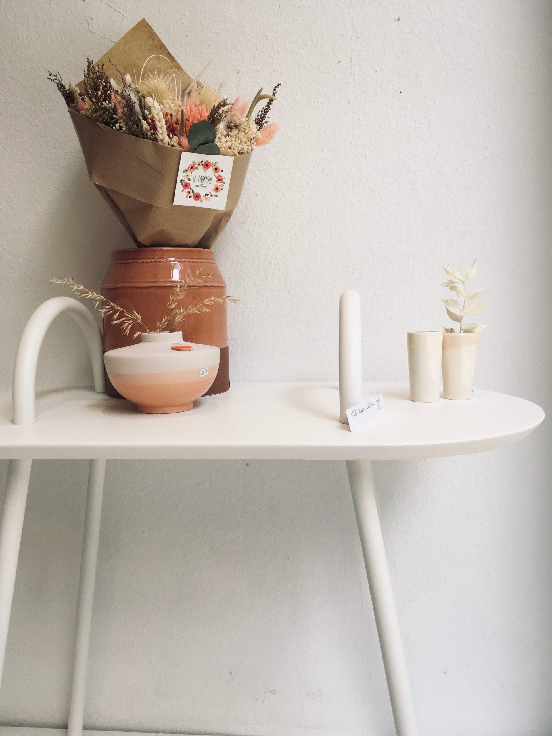 Table lounge (2 anses) intérieur/ extérieur blanche