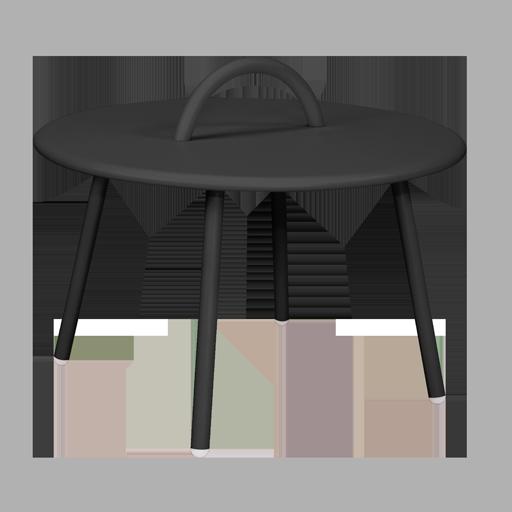Table lounge (1 anse) intérieur/ extérieur noire