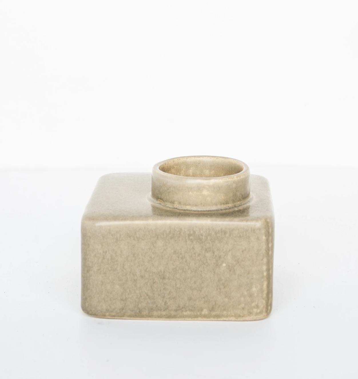 Bougeoir en céramique beige carré * Urban Nature Culture