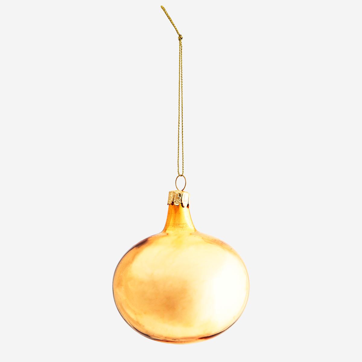 Boule de de Noël en verre doré * Madam Stoltz