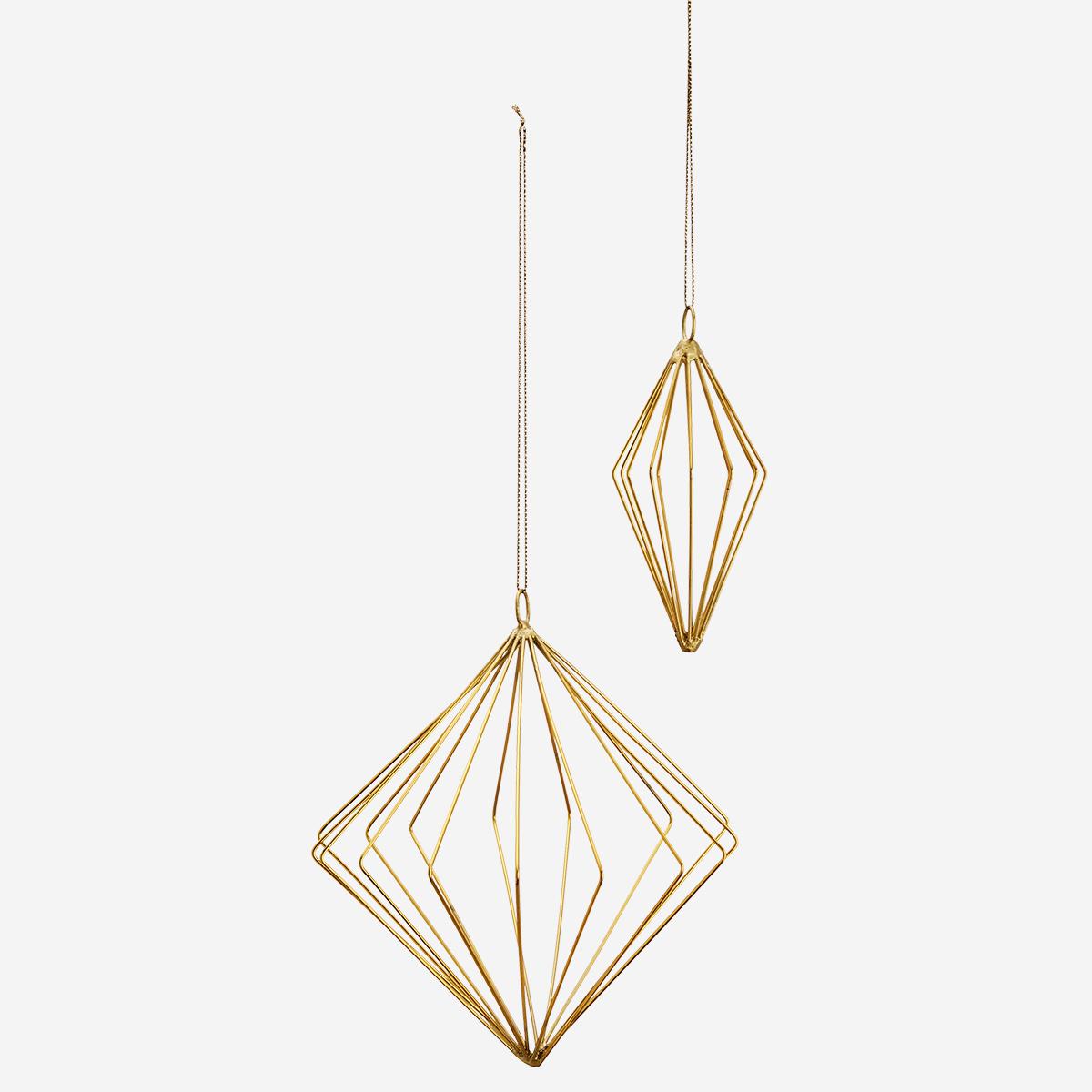 Décoration géométrique à suspendre en fer doré - Noël * Madam Stoltz