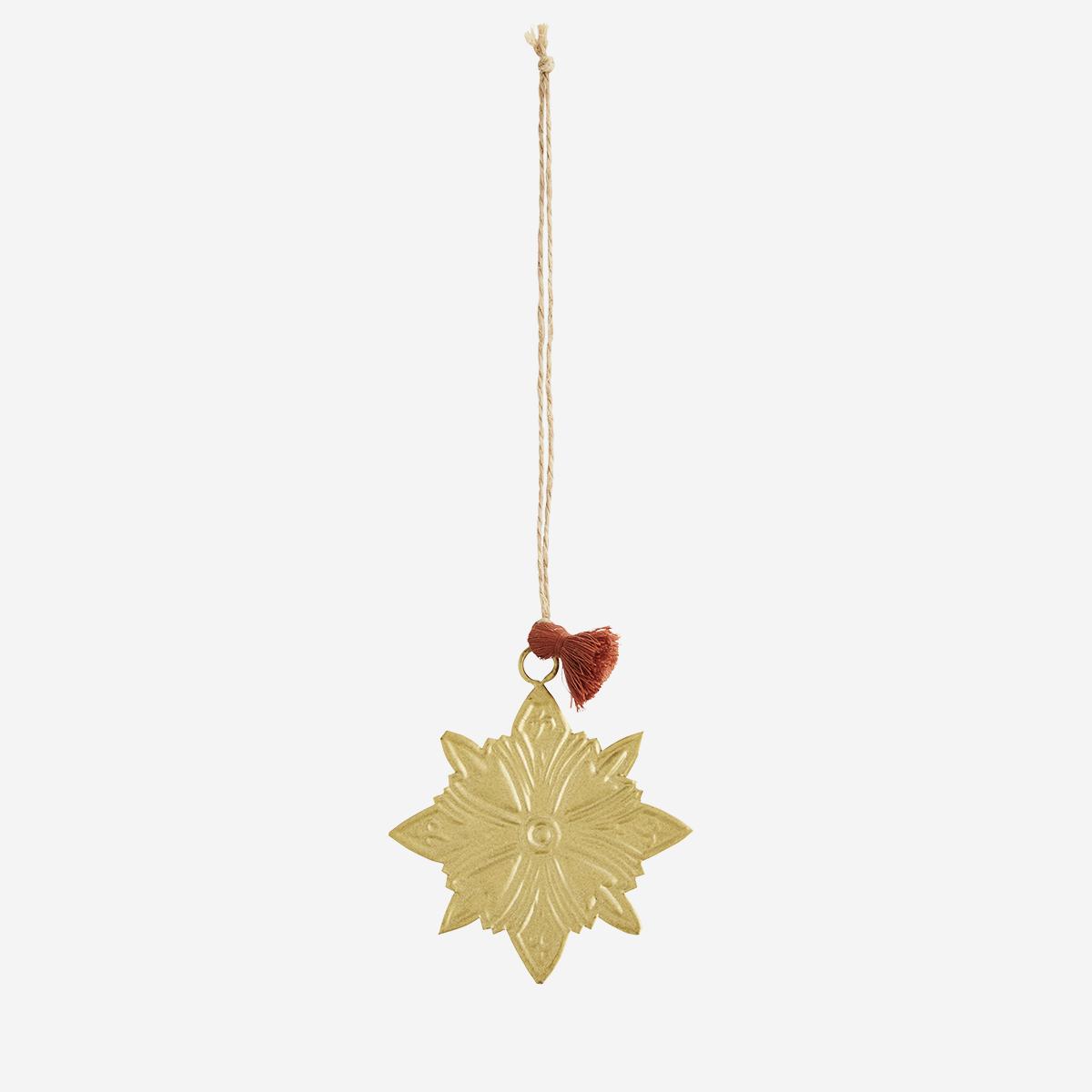 Décoration de Noël - étoile à suspendre en fer doré * Madam Stoltz