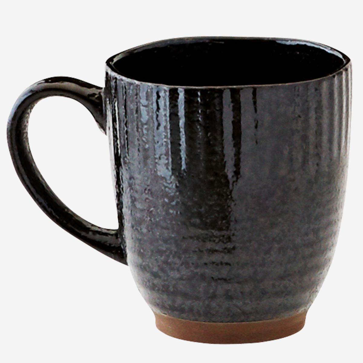 Tasse en grès émaillé noire * Madam Stoltz