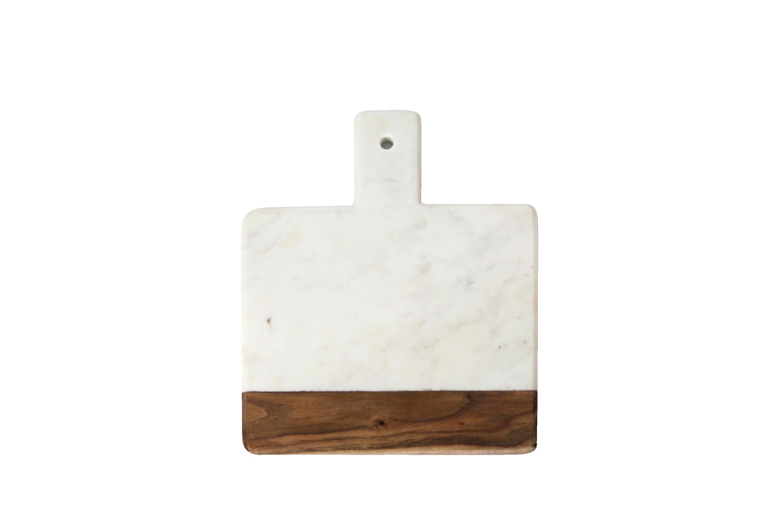 Planche en marbre blanc et bois d'acacia * Be Home