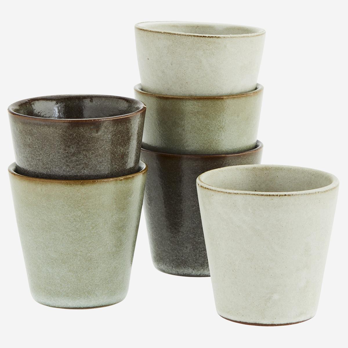 Petite tasse à thé en céramique émaillée - divers tons * Madam Stoltz