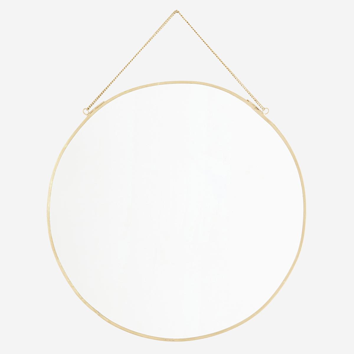 Miroir rond doré ø30cm * Madam Stoltz