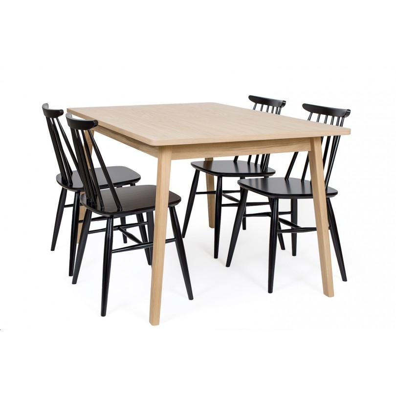 Table Skagen extensible 140-180cm  x 90cm - Finition chêne ou noire * Woodman