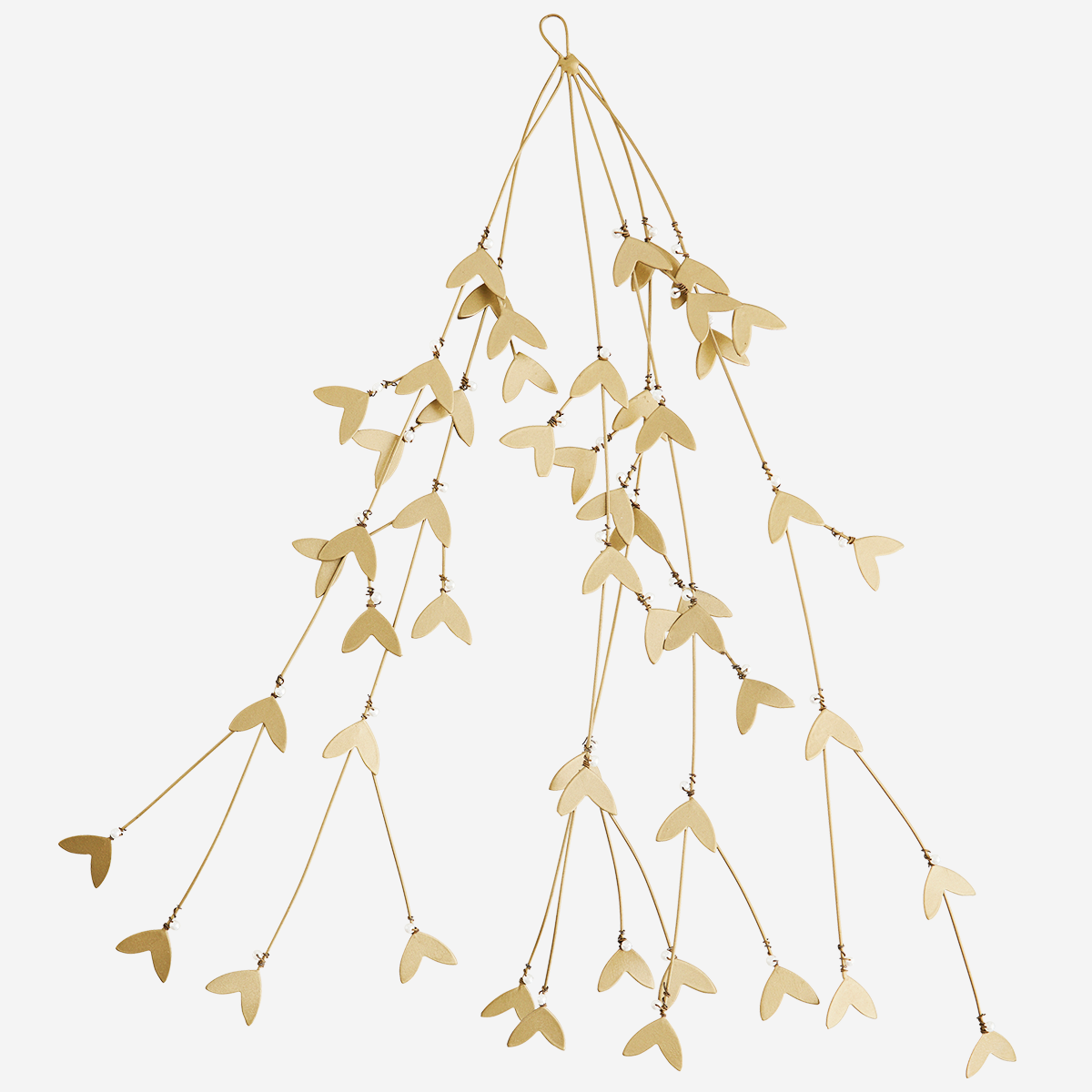 Branche de gui en fer doré et perles * Madam Stoltz