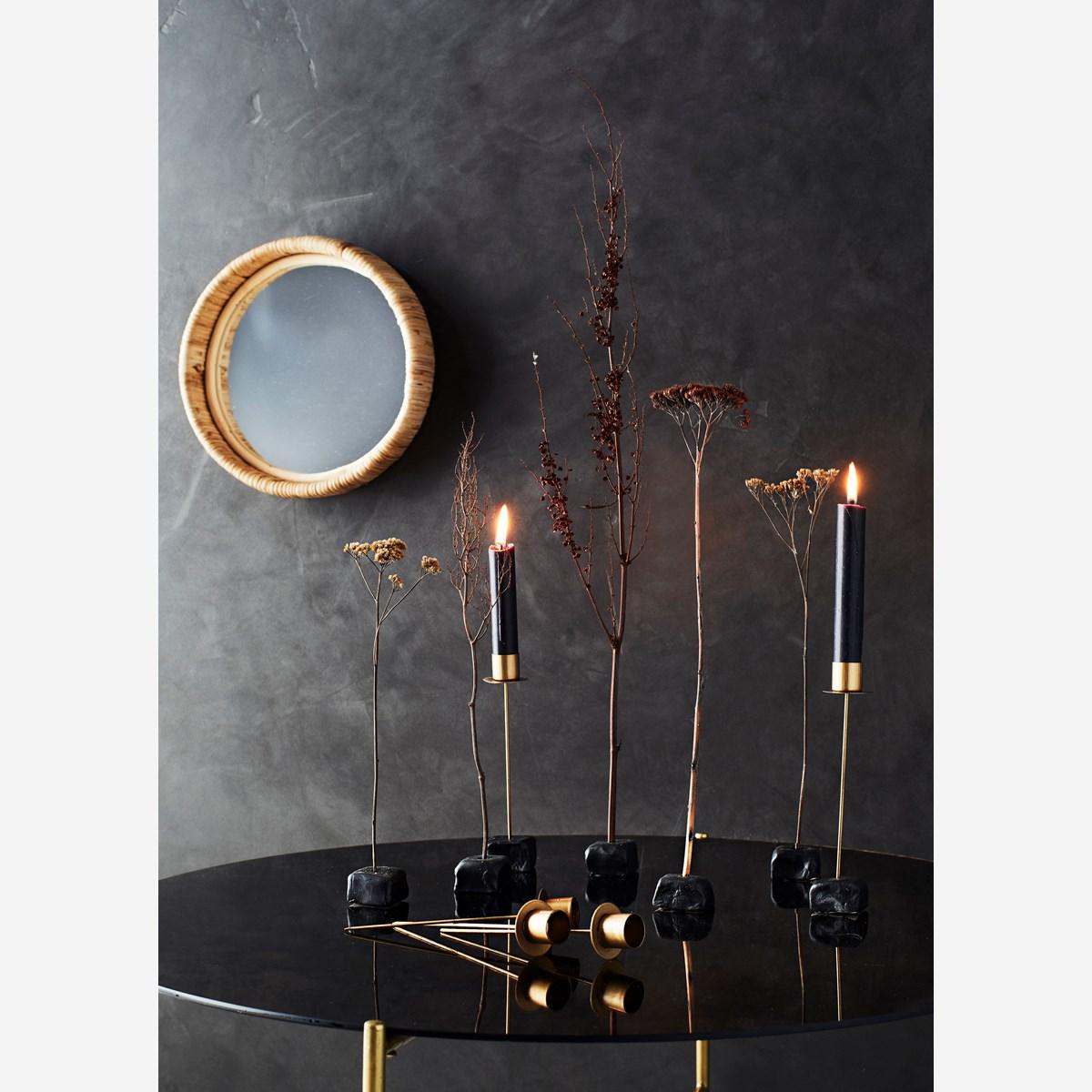 Miroir rond bord en bambou ø27cm * Madam Stoltz