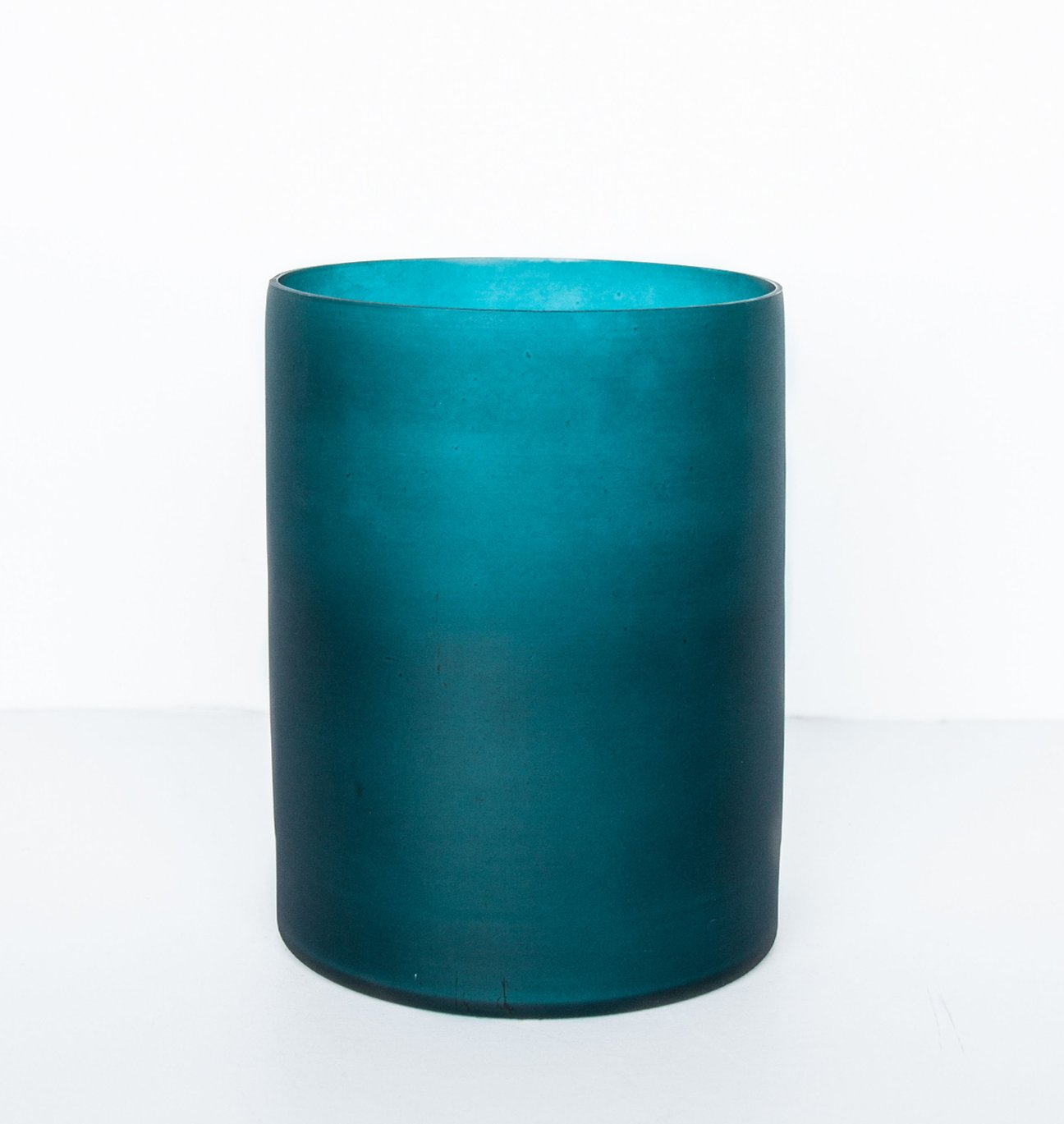 Vase cylindrique ou photophore bleu mat * Urban Culture Nature