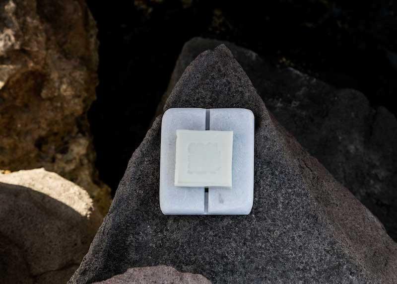 Porte-savon en marbre rectangulaire * Cool Soap