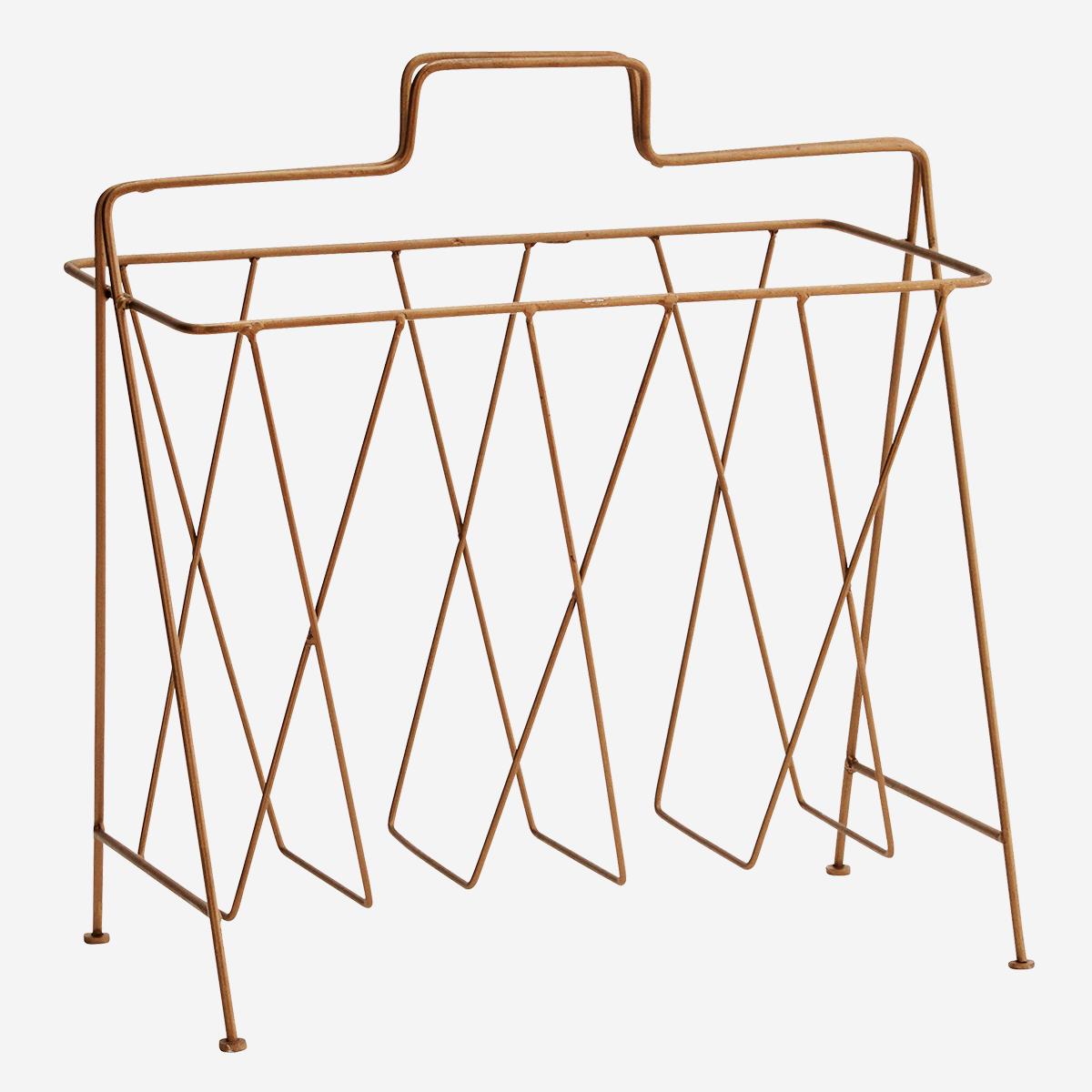 Porte-journaux en métal finition dorée * Madam Stoltz