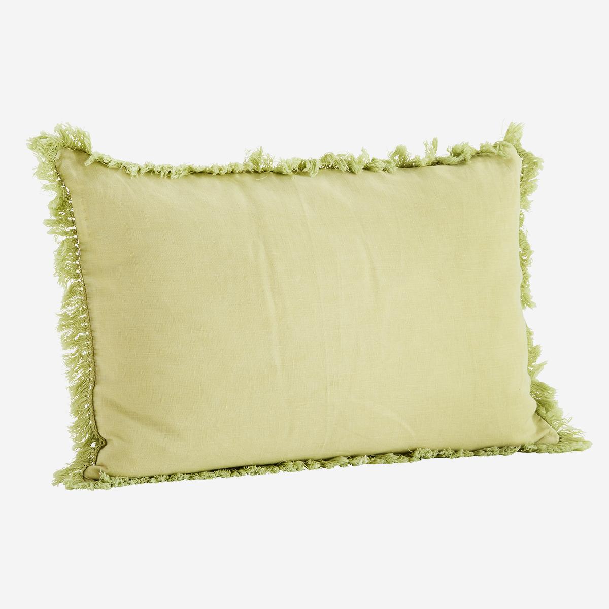 Housse de coussin en lin lavé vert lime doux 40x60cm * Madam Stoltz
