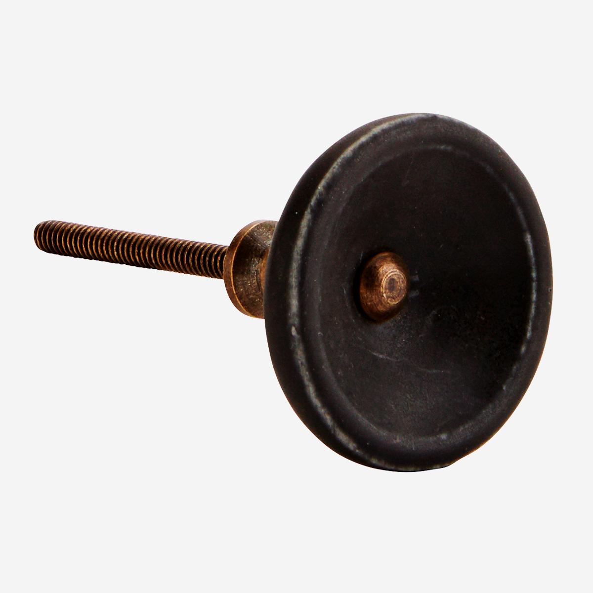 Bouton / Poignée de porte en porcelaine noir * Madam Stoltz