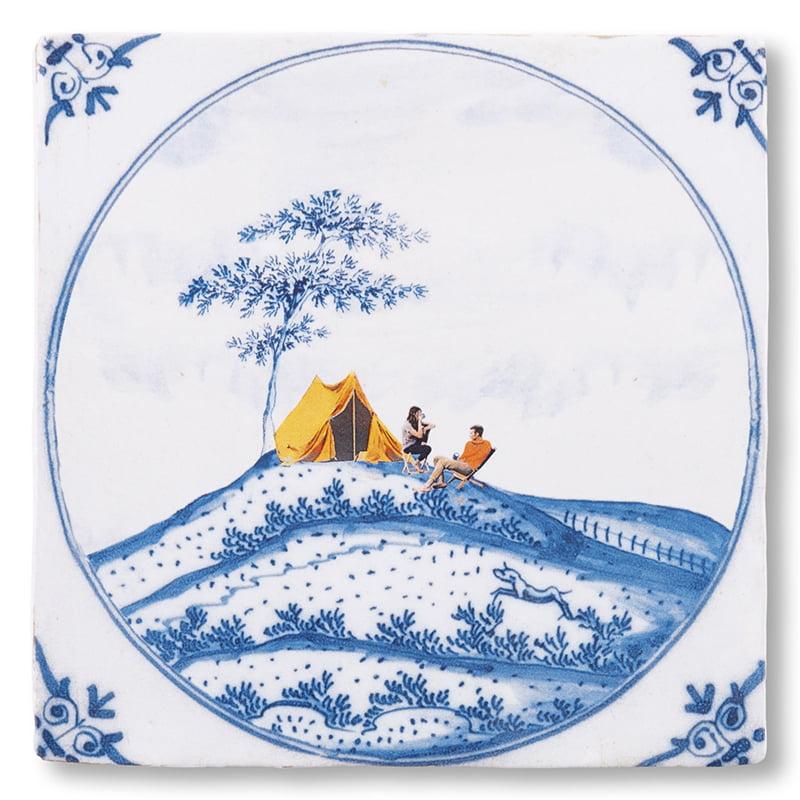 Carreau décoratif en céramique