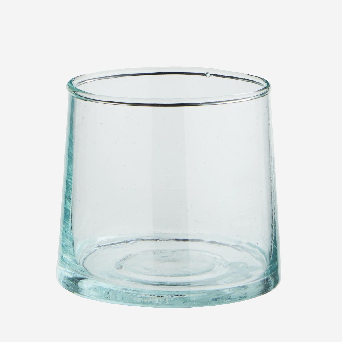 Verre Beldi court transparent (verre recyclé) * Madam Stoltz