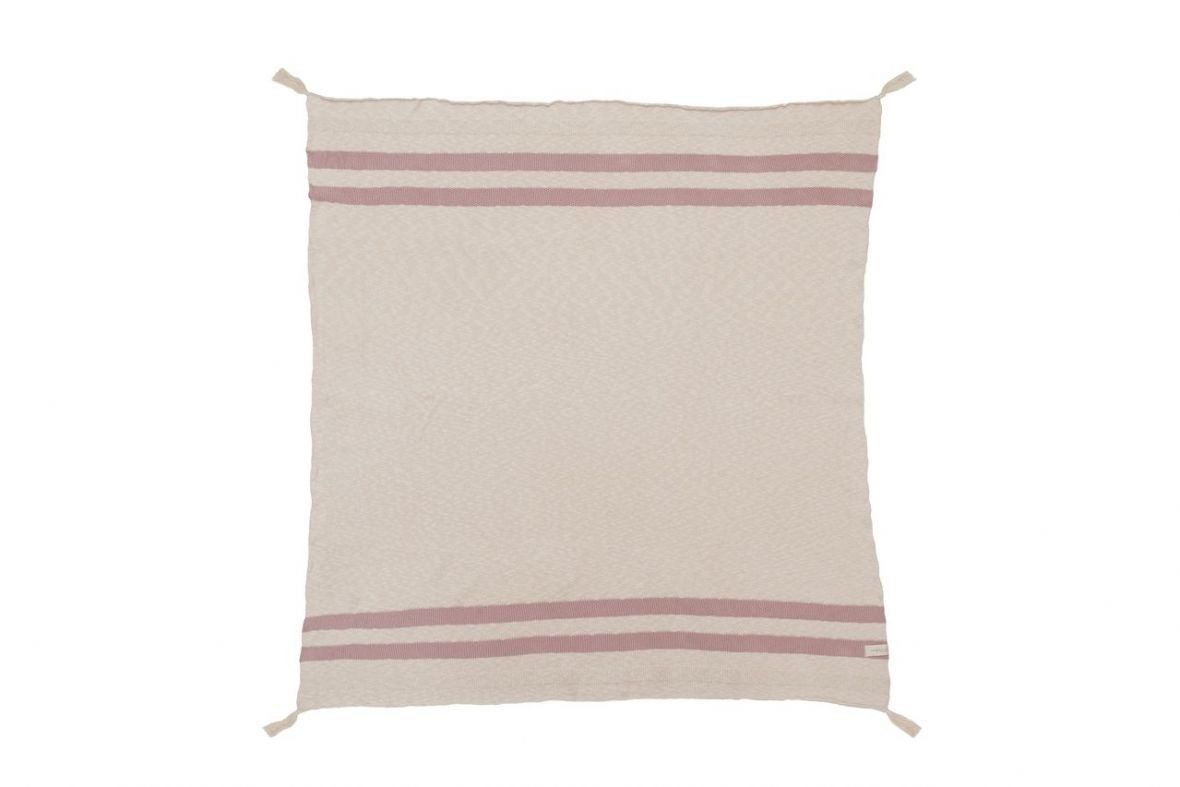 Plaid Stripes Natural rayures écru et rose vintage * Lorena Canals