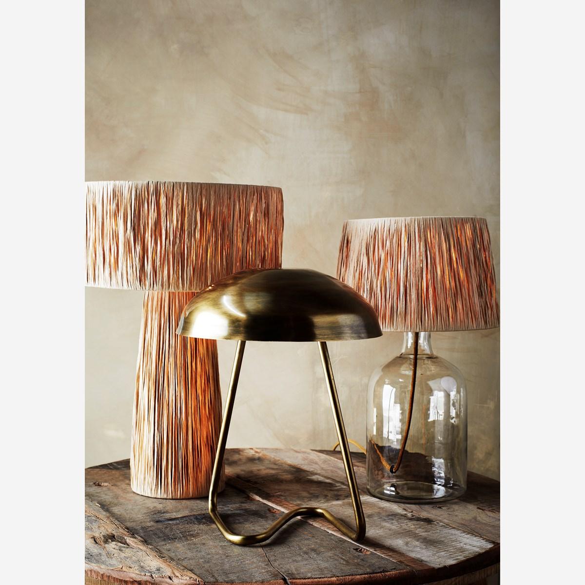 Lampe à poser en métal effet laiton vieilli * Madam Stoltz