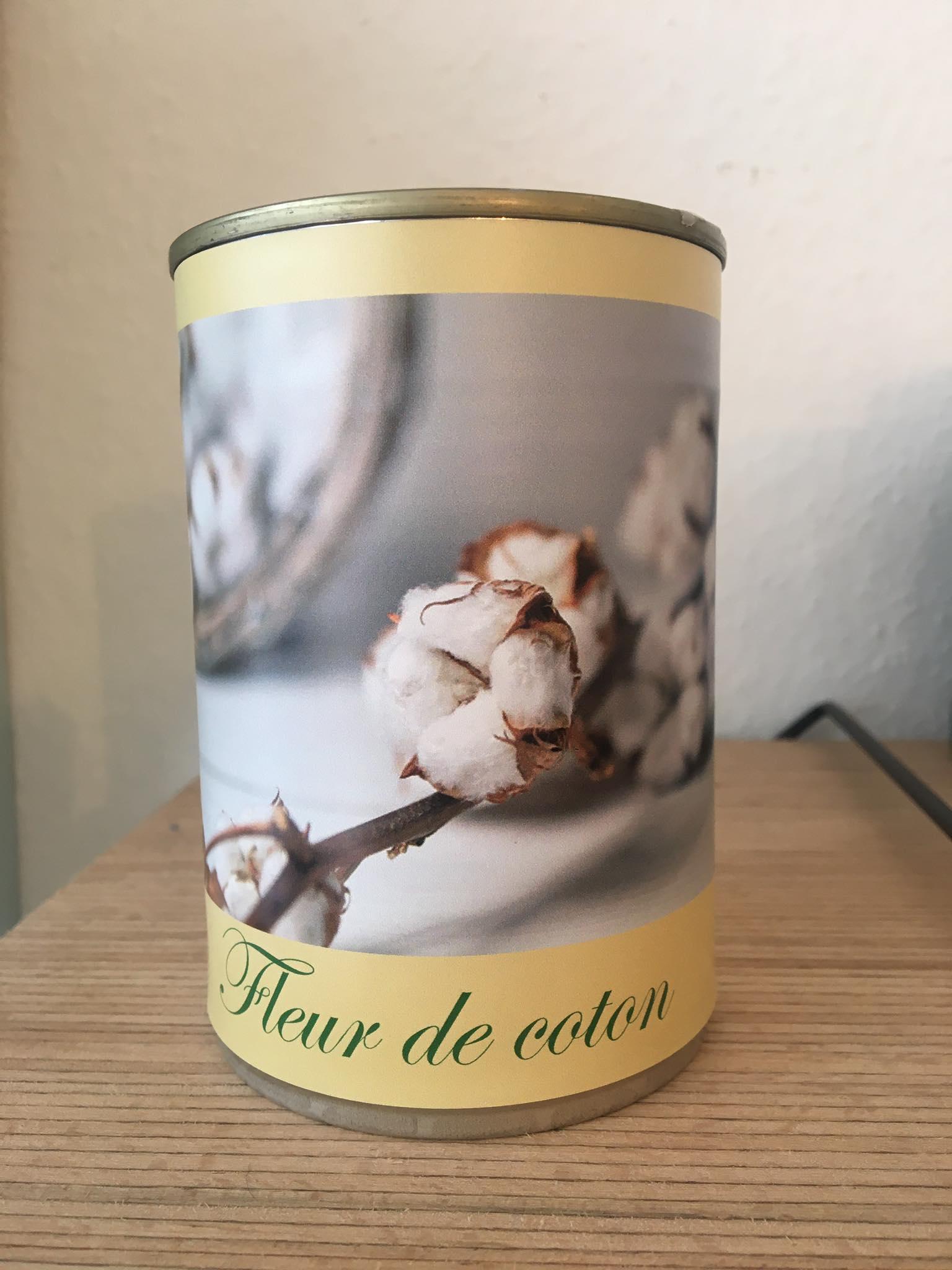 Bougie conserve Fleur de coton * Zeste de patine