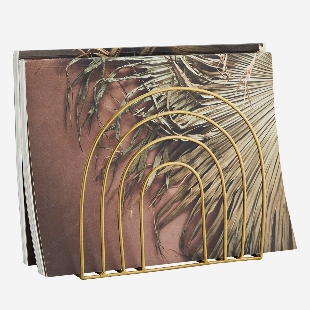 Porte-documents de bureau arc-en-ciel en métal doré * Madam Stoltz