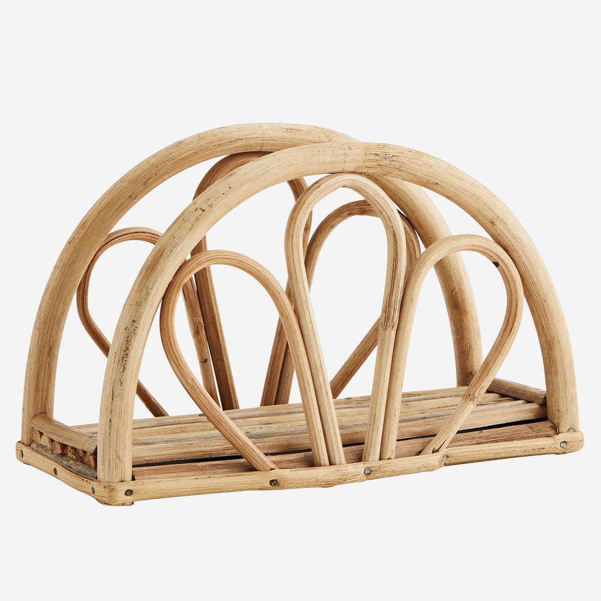 Porte-serviette en bambou demi-cercle * Madam Stoltz