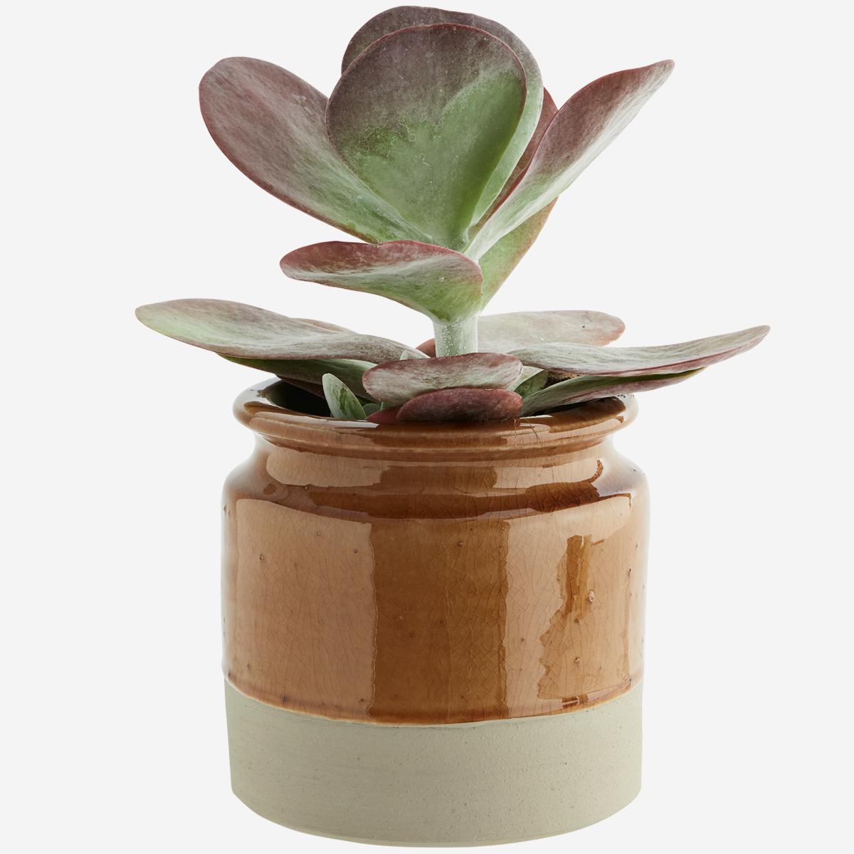 Cache-pot bicolore beige/camel * Madam Stoltz