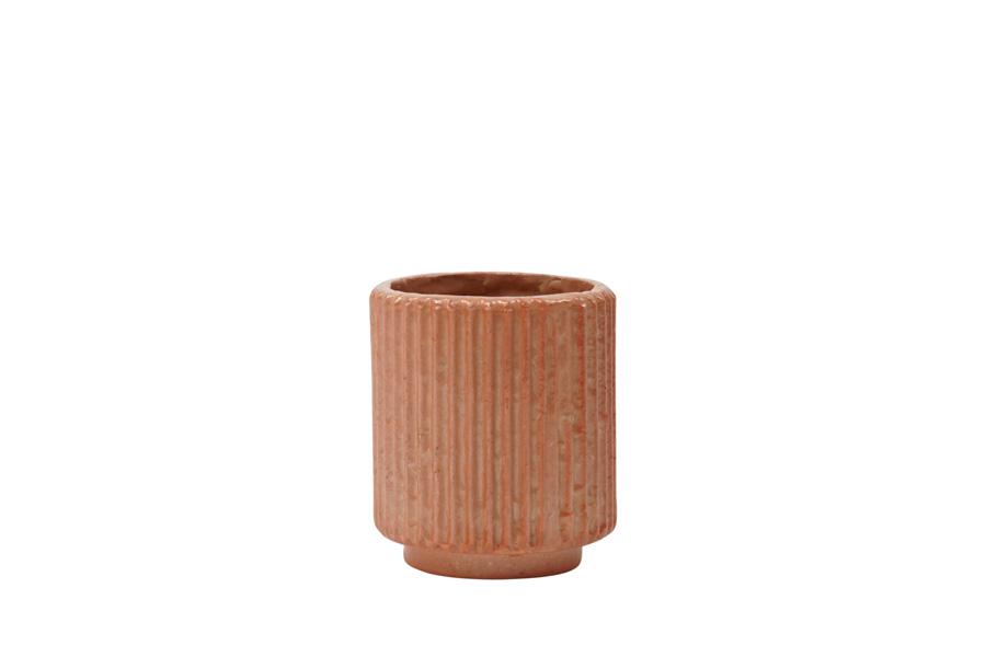 Petit cache-pot en coquillage plastique et recyclés corail nacré * Kinta