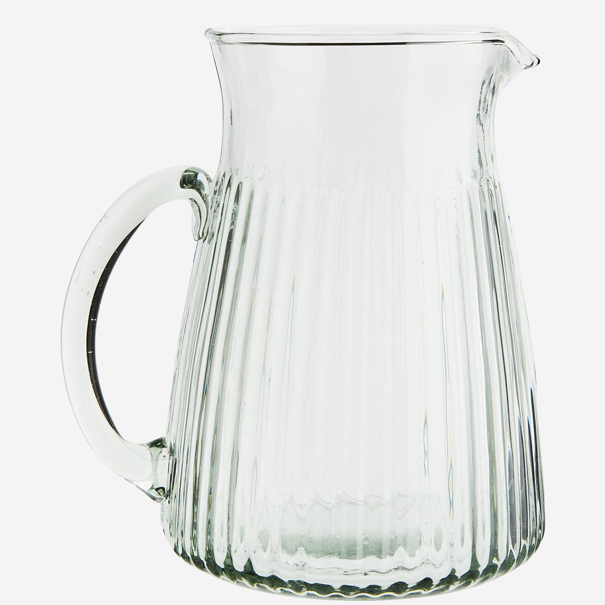 Carafe - cruche en verre striée/lignée * Madam Stoltz