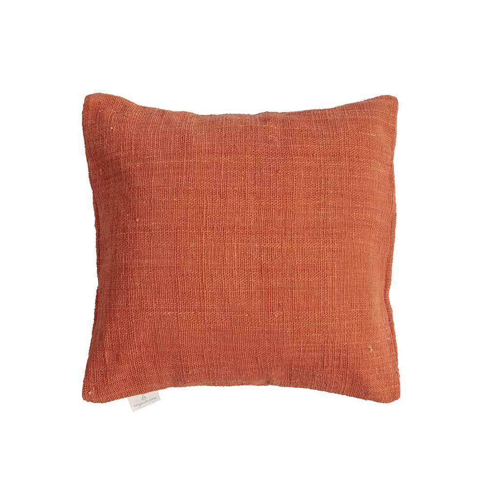 Housse de coussin en coton recyclé terracotta * Original Home