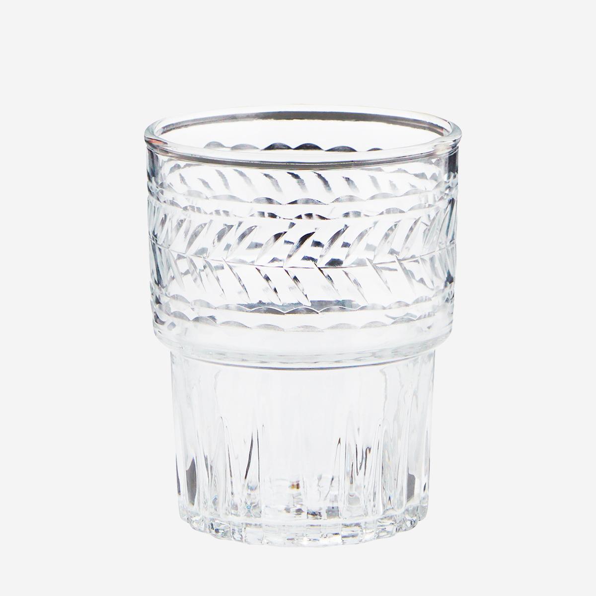 Petit verre ciselé empilable * Madam Stoltz