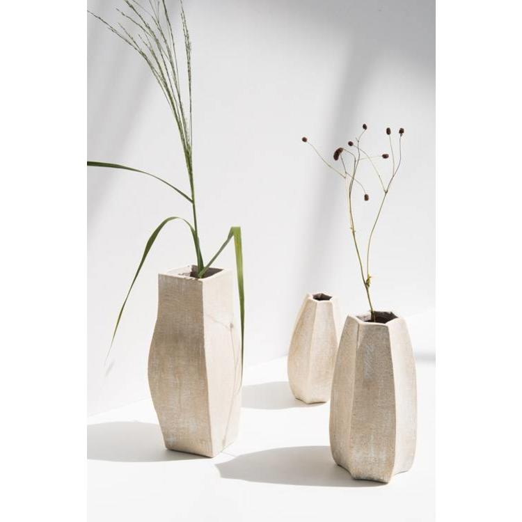 Vase haut en argile beige * Urban Nature Culture