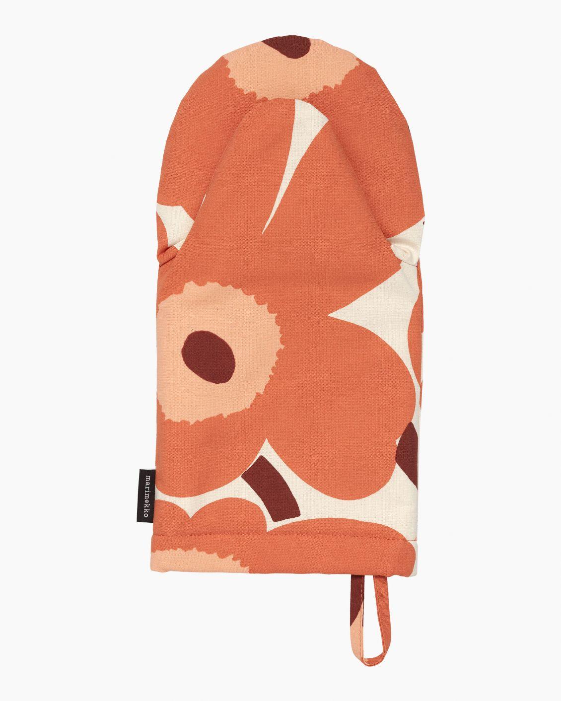 Manique gant Pieni Unikko Flower rouille/orangé/bordeaux * Marimekko