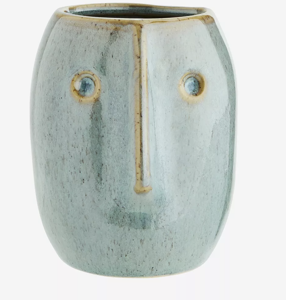 Petit cache-pot visage vert * Madam Stoltz