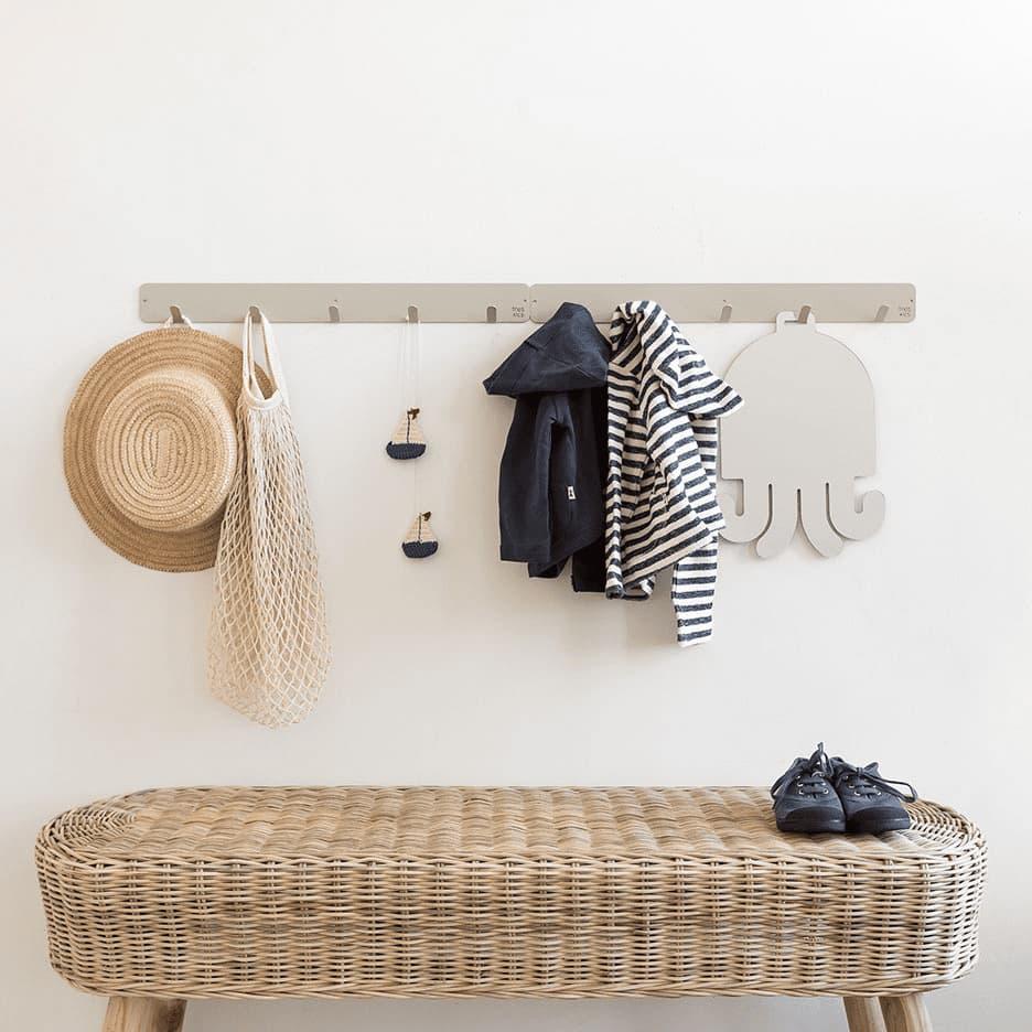 Porte-manteaux minimaliste 5 crochets (métal différentes couleurs) * Tresxics