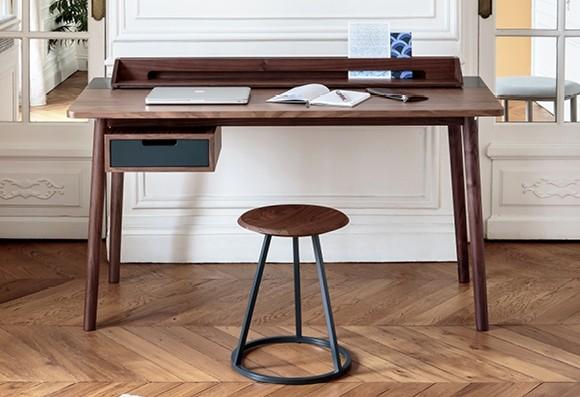 Bureau 'Honoré' Noyer et gris ardoise * Hartô Design