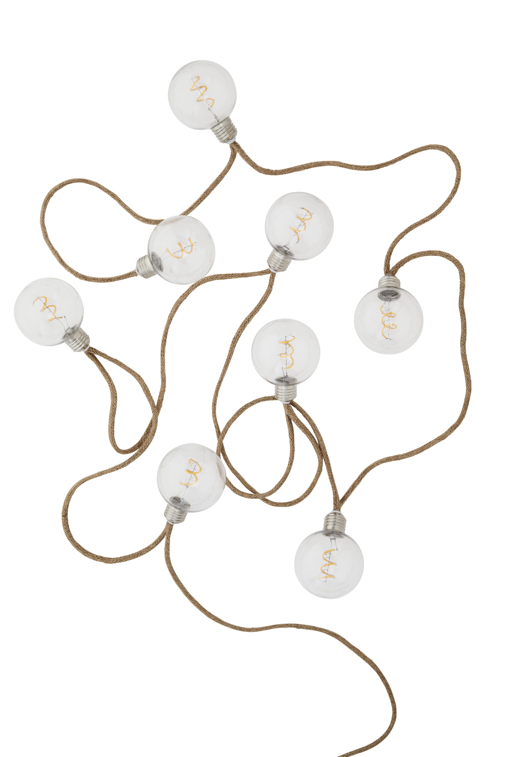 Guirlande lumineuse d'intérieur 8 lampes en jute * Madam Stoltz