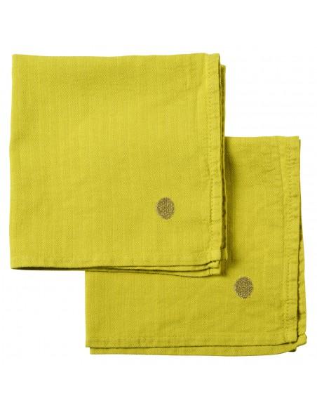 Set de 2x serviettes de table Marcel Bergamote * La Cerise sur le Gâteau
