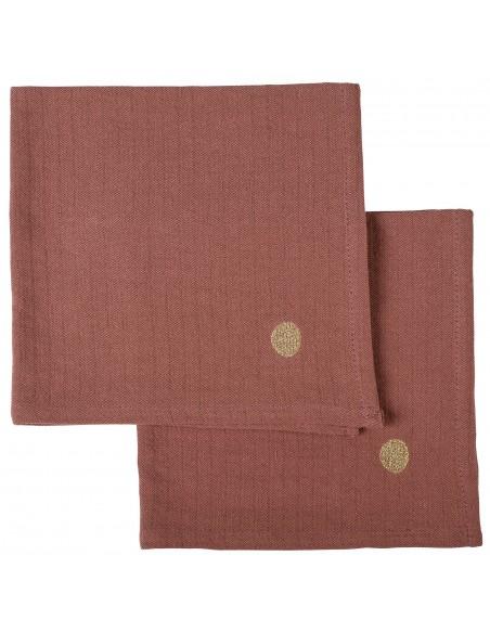 Set de 2x serviettes de table Marcel Rhubarbe * La Cerise sur le Gâteau