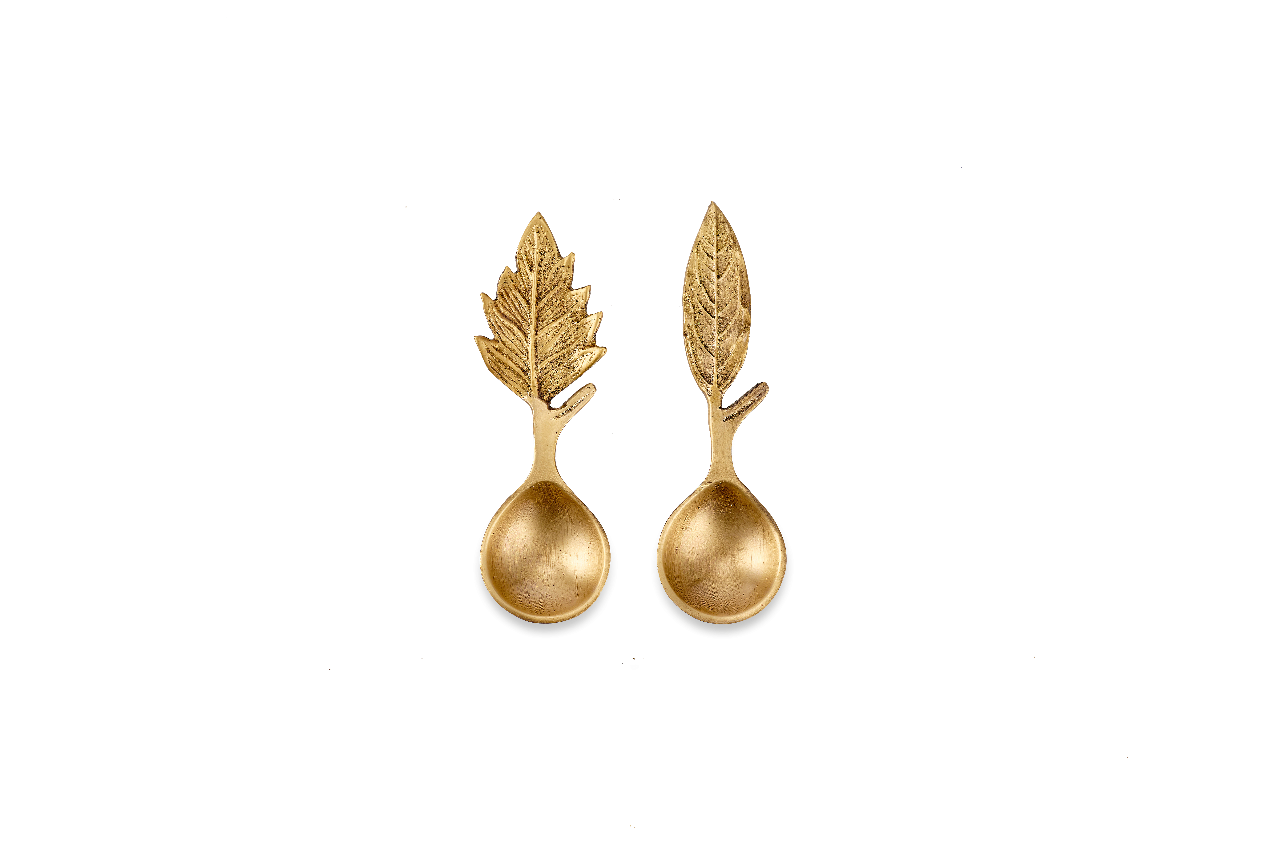 Mini cuillère doseuse feuille dorée * Nkuku