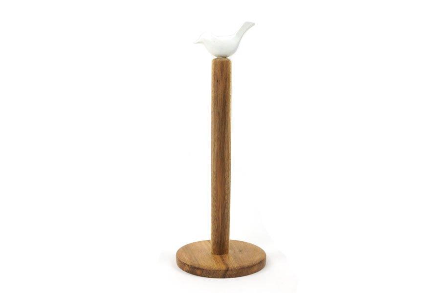 Support pour essuie-tout en bois d'acacia * Kinta