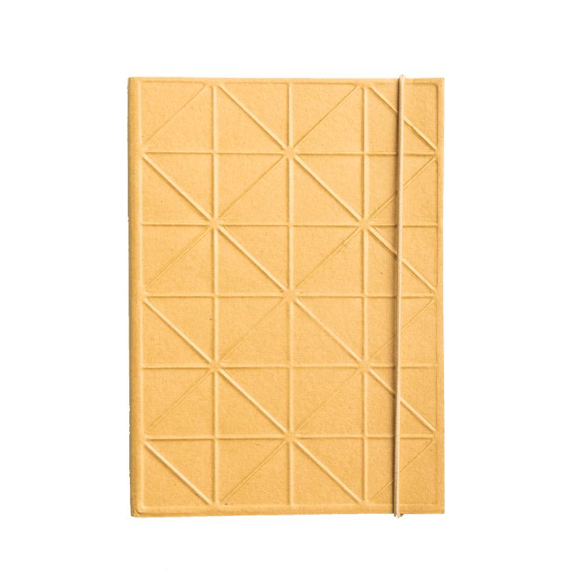 Cahier de notes 13x18cm ligné moutarde en coton recyclé * Urban Nature Culture